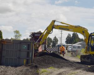 Crews spent a day and a-half clearing 250 tonnes of coal and six derailed freight wagons from...