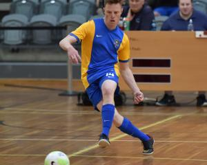 Reid Hulleman looks to pass during Southern United's game against Canterbury United at the Edgar...