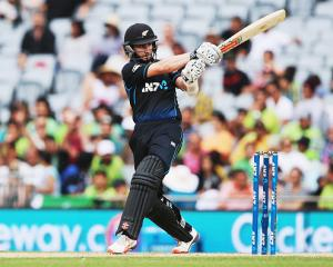 Kane Williamson scored his eighth ODI century to set up victory for New Zealand. Photo Getty