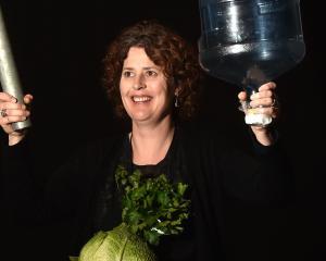 Arts Festival Dunedin production manager Gwen Macready at Kavanagh Auditorium yesterday holds...
