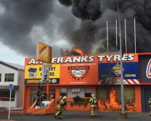 Firefighters are on the scene in Angelsea St. Photo: NZ Herald
