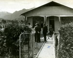 Stanley Graham's house at the start of the manhunt, before the authorities cut down the shrub to...