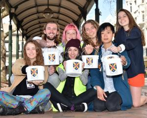 University of Otago humanities students and members of Compassionate Students Fundraising for the...