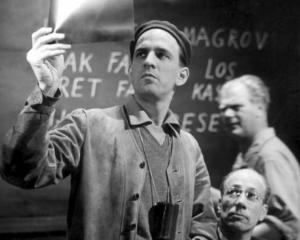Swedish stage and film director Ingmar Bergman taken during the production of Wild Strawberries ...