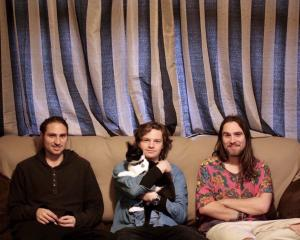 Koizilla (from left) Josh Nichols, Connor Blackie and Zac Nichols. Photo: Julie Dunn.