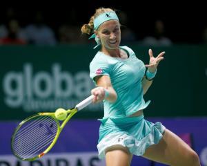 Svetlana Kuznetsova in action. Photo: Reuters