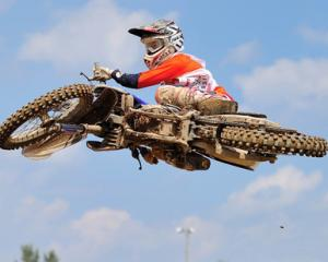 Young Kiwi motocross rider Dylan Walsh who is trying to crack the big time in America. Photo: NZ...