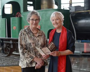 University of Otago Emeritus Prof Helen Leach (left) and Southern Heritage Trust founder Ann...