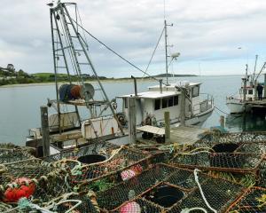 The commercial fishing boat Schemer, skippered by Gary Homan, at Taieri Mouth. Photos: Stephen...