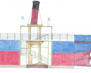 The South Dunedin Ark, concept drawing, by Lawrie Forbes and Stuart Griffiths. Photos: supplied.