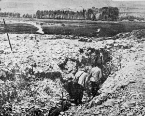 Trenches in the French countryside on the Somme. — Otago Witness, 18.10.1916.
