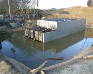 The Milton stormwater pump station should be completed by the end of July. Photo by Rachel Taylor.