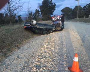 Miss O'Brien was driving on a gravel section of the road when she lost control, hitting the side...