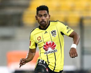 Roy Krishna in action for the Wellington Phoenix. Photo: Reuters