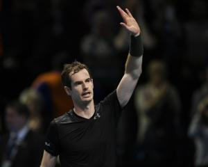 Andy Murray after his win over Kei Nishikori. Photo: Reuters