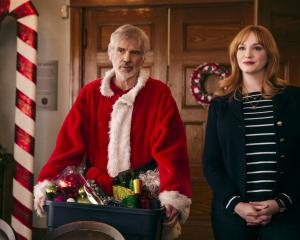 Billy Bob Thornton as Willie and Christina Hendricks as Diane in a scene from the movie ''Bad...