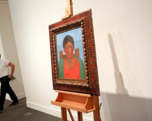 Artist Frida Kahlo's painting 'Nina Con Collar' has been put up for auction after being privately...