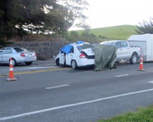 Wednesday's fatal crash. Photo: Shannon Gillies.