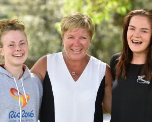 (from left) Anna Grimaldi, Raylene Bates and Holly Robinson. Photo by Peter McIntosh.