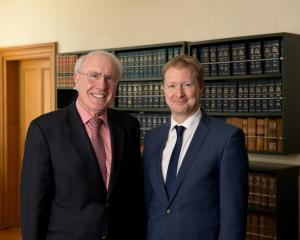 Sir Geoffrey Palmer (left) and Andrew Butler.PHOTO: GRANT MAIDEN PHOTOGRAPHY