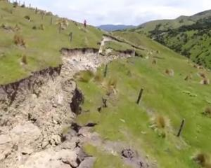Geonet drone footage shows the Kekerengu Fault, with deep gouges carved across the landscape....