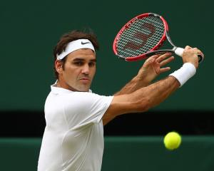 Roger Federer at Wimbledon earlier this year. Photo: Getty Images