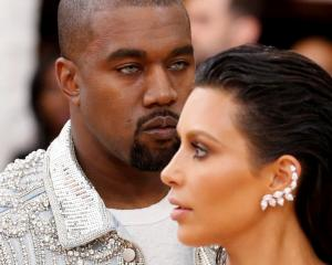 Musician Kanye West and wife Kim Kardashian. Photo: Reuters