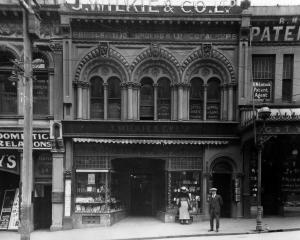 Switzer's Building at 192 Princes St, Dunedin, in 1923. PHOTO: HOCKEN COLLECTIONS MS-2248/031