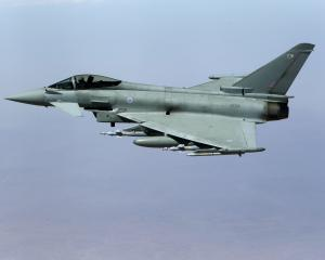 A British Typhoon fighter plane. Photo: Reuters