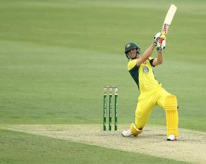 Mitchell Marsh in action against New Zealand on Tuesdat. Photo: Getty Images