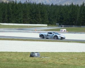 A McLaren sports car on the Highlands track. Photo: Lynda van Kempen
