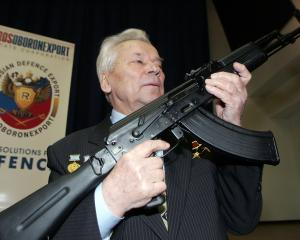 Russian firearms producer Mikhail Kalashnikov, is the designer of the semi-automatic AK-47...
