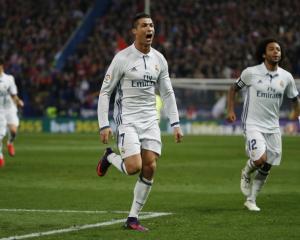 Cristiano Ronaldo celebrates a goal for Real Madrid. Photo: Reuters