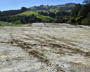 A motorcycle rider has damaged the newly prepared surface of the BMX track at Forrester Park....
