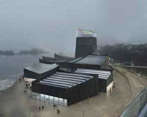 An undated artist's rendering shows a design of the rejected new Guggenheim museum in Helsinki....