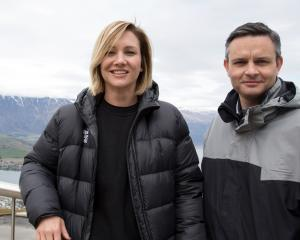 Hayley Holt and Green co-leader and MP James Shaw of in Queenstown. Photo: Supplied