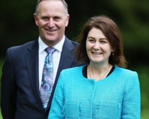 John Key with is wife Bronagh. Photo Getty