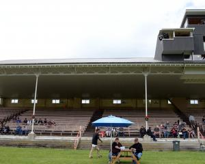 Punters in the main stand at the Oamaru Racecourse last Saturday. Photo: Carol Edwards.