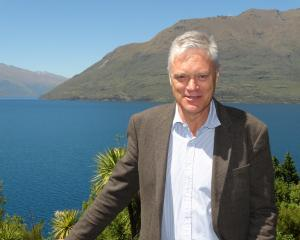 Meridian Energy's chief executive Mark Binns before addressing shareholders in Queenstown...