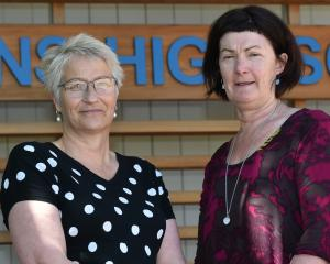 Queen's High School principal Di Carter (left) has announced her resignation. She will be...