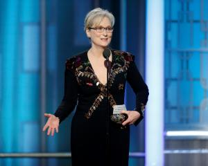 Meryl Streep accepts the Cecil B. DeMille Award during the 74th Annual Golden Globe Awards show...
