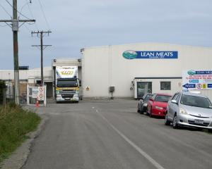 The Lean Meats plant in Oamaru yesterday. Photo by Shannon Gillies.