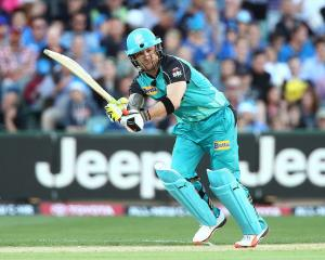 Brendon McCullum bats for the Brisbane Heat. Photo: Getty Images