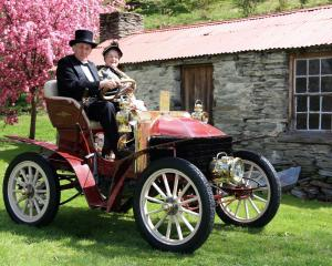 Dunedin couple Colin and Judy Winter are pictured in their 1900 Wolseley, which has been to every...