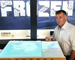 Otago Museum science engagement director Craig Grant with three-dimensional models depicting the...