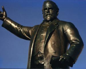 Richard John Seddon's monument in the forecourt of Parliament. He was New Zealand's longest...