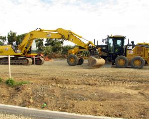 Earthmovers on site to build a car park for the Department of Conservation beside a known nesting...