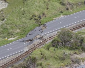 Damage on State Highway 1 and the main trunk railway line north of Kaikoura last week after the...