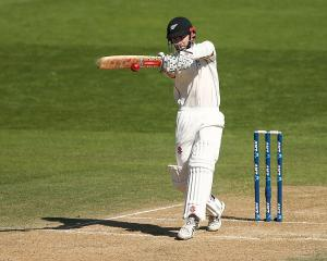 Kane Williamson bats during his century against Bangladesh yesterday. Photo: Getty Images