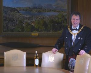 Donald Wilson, Lord Provost of Edinburgh, in the ''Dunedin Room'' in Edinburgh's City Chambers,...